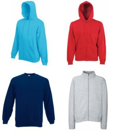 7eb0d68e Ejemplos: Sudaderas con o sin capucha, con o sin cremallera, cuello redondo  y